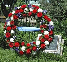 Memorial wreath to fallen law enforcement officers