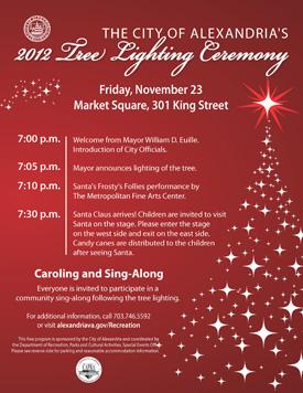 2012 Tree Lighting Ceremony