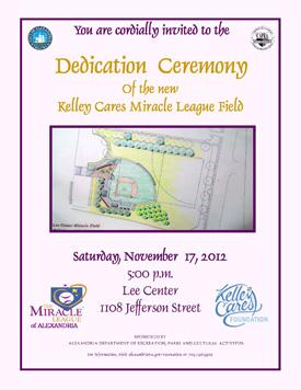 Kelley Cares Miracle Field Dedication