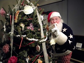 Civil War Santa. Photo courtesy Fort Ward Museum