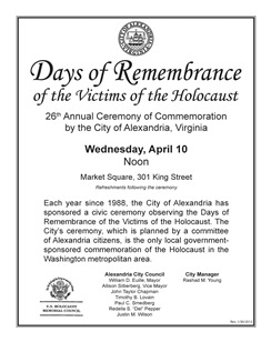 2013 Days of Remembrance