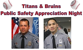 Titans & Bruins Public Safety Appreciation Night