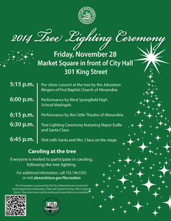 2014 Tree Lighting Ceremony