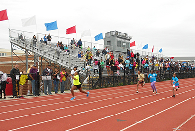 Alexandria youth compete in the 2013 Hershey's Track & Field Games