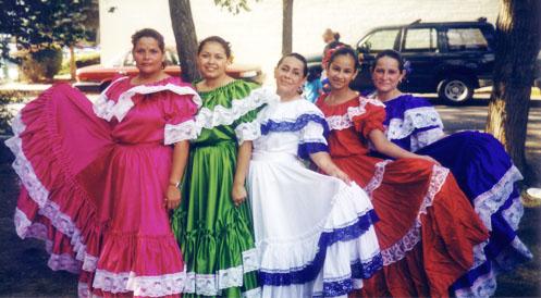 Dancers at the Annual Arlandria-Chirilagua Festival
