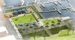 Rendering of interim park design