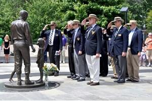 Veterans Salute in Capt. Rocky Versace Plaza