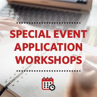 Special Event Application Workshops